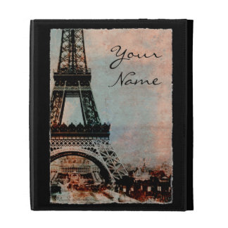 Eiffel Tower at Sunrise Personalized iPad Case