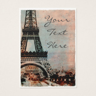 Eiffel Tower at Sunrise Vintage Style #2 Business Card