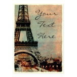 Eiffel Tower at Sunrise Vintage Style #2 Large Business Card