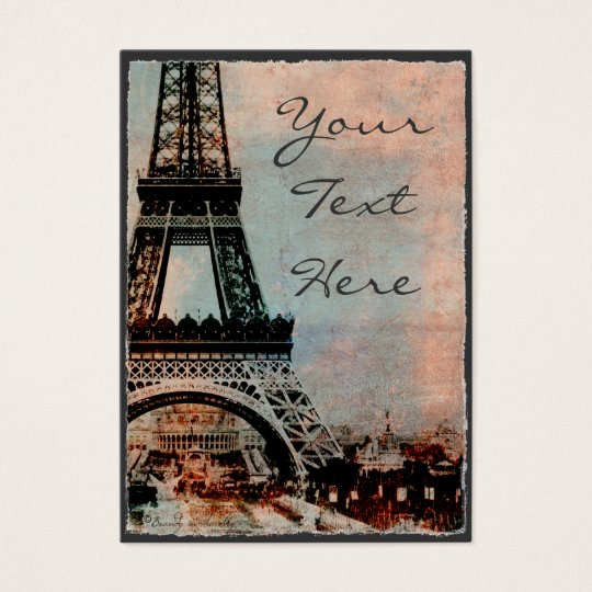 Eiffel Tower at Sunrise Vintage Style Business Card