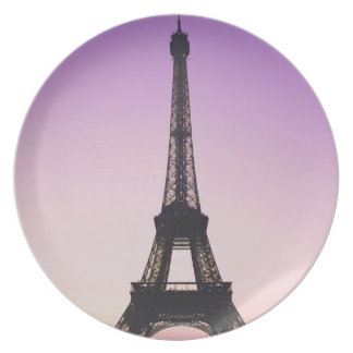 Eiffel Tower at Sunset Melamine Plate