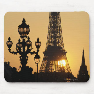 Eiffel tower at sunset mouse pad