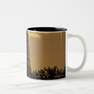 Eiffel Tower at sunset, Paris, France Two-Tone Coffee Mug