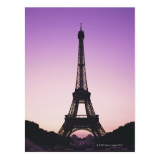 Eiffel Tower at Sunset Post Card