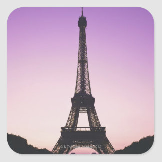 Eiffel Tower at Sunset Square Sticker