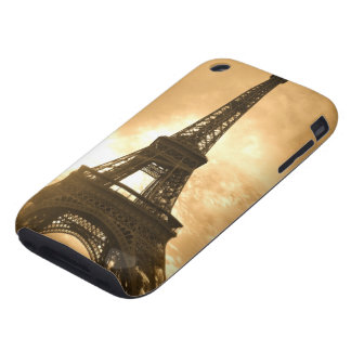 Eiffel Tower at sunset Tough iPhone 3 Covers