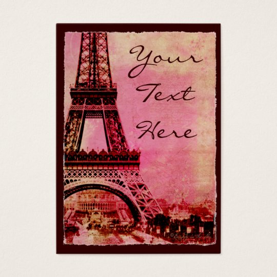 Eiffel Tower at Sunset Vintage Style #2 Business Card