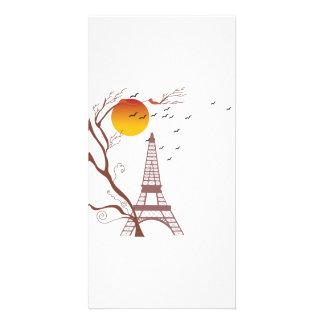 Eiffel tower, autumn photo greeting card