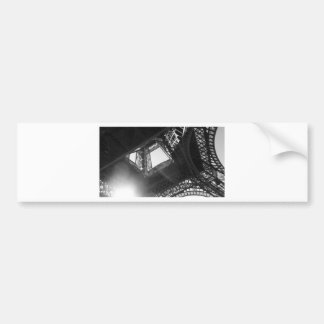 Eiffel Tower B&W Bumper Sticker