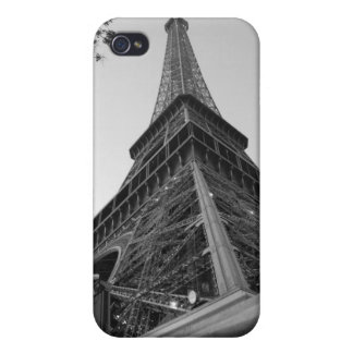 Eiffel Tower b/w Cases For iPhone 4