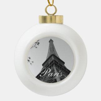 Eiffel Tower b/w Ornaments