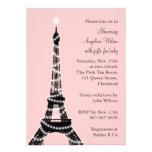Eiffel Tower Baby Shower Invitation (pink)