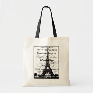 Eiffel Tower Badget Tote