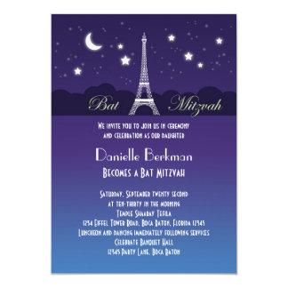 Eiffel Tower Bat Mitzvah Invitation