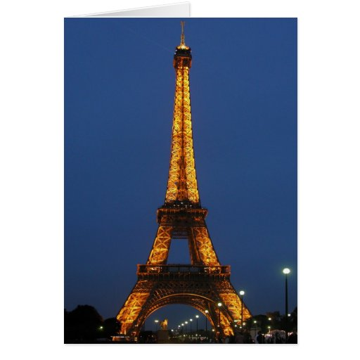 Eiffel Tower Beauty Greeting Card