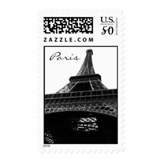 Eiffel Tower Black and White Postage