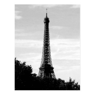 Eiffel Tower Black and White Postcard