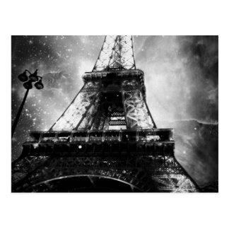 Eiffel Tower, Black and White Postcard