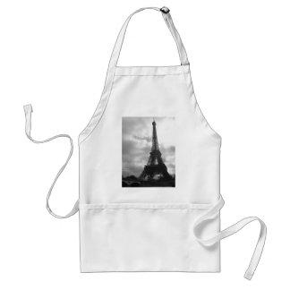 Eiffel Tower Black tone Adult Apron
