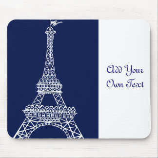 Eiffel Tower Blue and White Template Mousepads