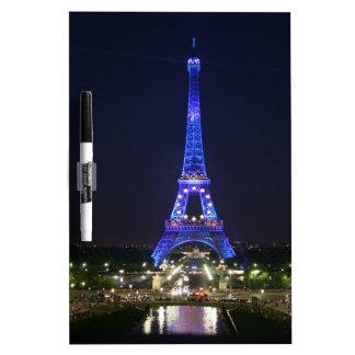 Eiffel Tower (Blue Lights) Dry-Erase Board