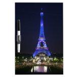 Eiffel Tower (Blue Lights) Dry Erase White Board