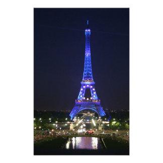 Eiffel Tower (Blue Lights) Stationery