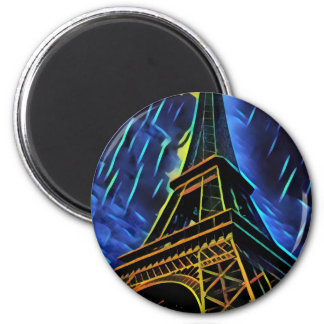 Eiffel Tower Blue Magnet
