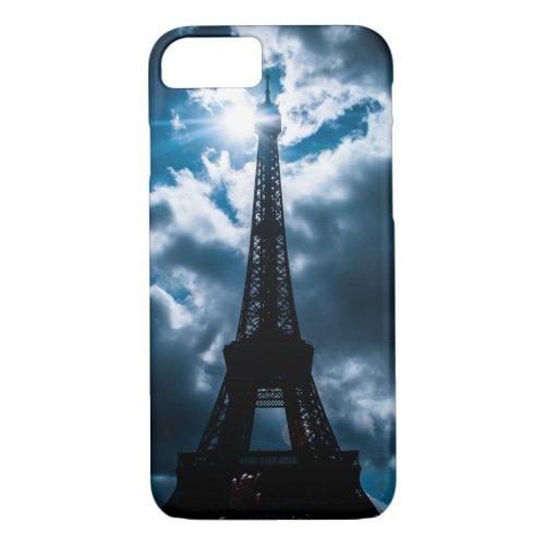 Eiffel Tower Blue Night Phone Case