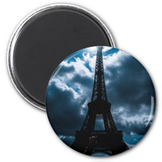 Eiffel Tower Blue Night Magnet