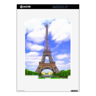 Eiffel Tower, Blue Sky, Paris France iPad 2 Skin