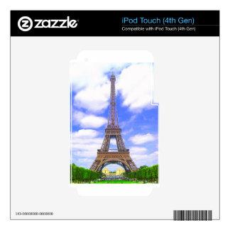 Eiffel Tower, Blue Sky, Paris France iPod Touch 4G Skins