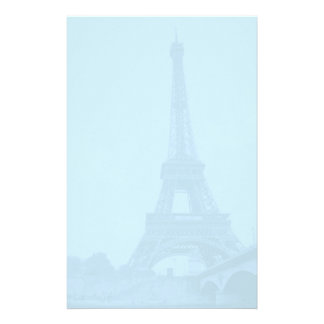 Eiffel Tower Blue Stationery Paper
