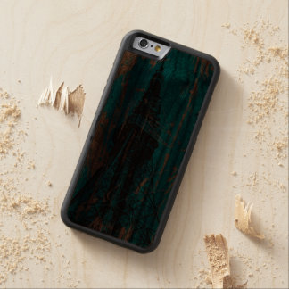 eiffel tower blue wood textures digital art carved® walnut iPhone 6 bumper case