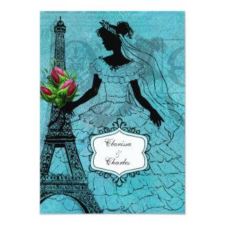 Eiffel Tower Bride 5x7 Wedding Invitation