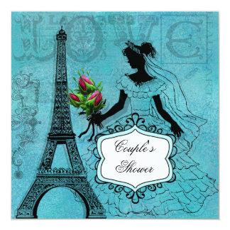 Eiffel Tower Bride Couple's Shower Invitation