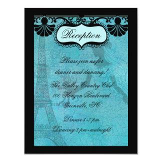 Eiffel Tower Bride Reception Card