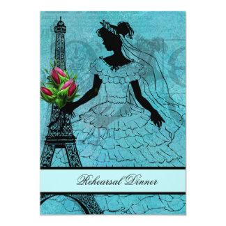 Eiffel Tower Bride Rehearsal Dinner Invitation