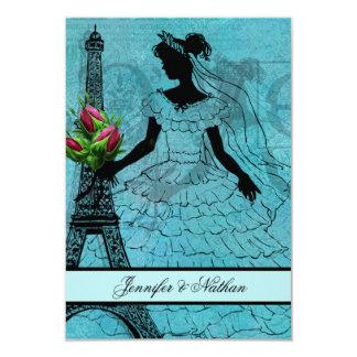 Eiffel Tower Bride  RSVP Card