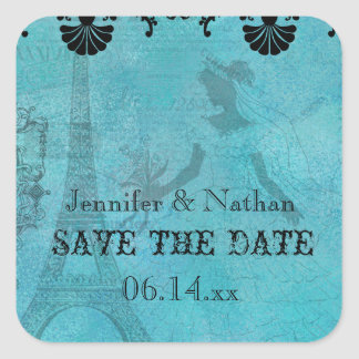 Eiffel Tower Bride Save the Date Stickers