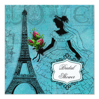 Eiffel Tower Bride T-shirts and Gifts Card