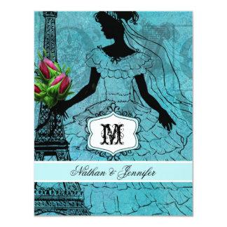 Eiffel Tower Bride Wedding RSVP Card