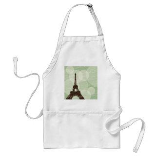 Eiffel Tower bubbles - green Adult Apron