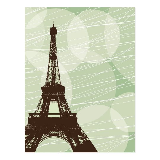 Eiffel Tower bubbles - green Postcard