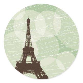 Eiffel Tower bubbles - green