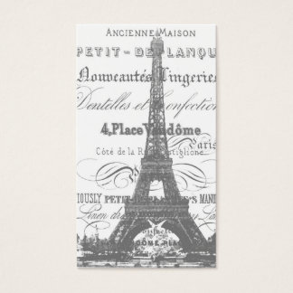 Eiffel Tower  Business Card_Gray Business Card