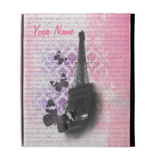 Eiffel tower & butterflies iPad folio case