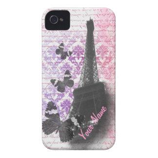 Eiffel tower & butterflies iPhone 4 case