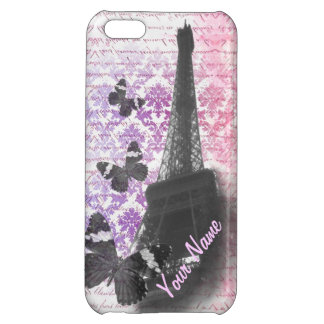 Eiffel tower & butterflies iPhone 5C cases