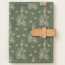 Eiffel Tower Butterflies Parisian, French Pattern Journal